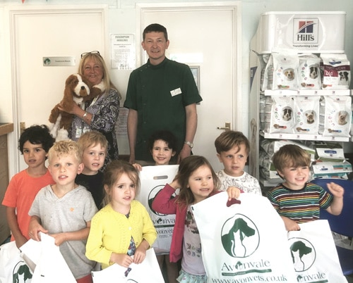 Youngsters from Castle Nursery enjoyed their visit to Avonvale Veterinary Centre's Kenilworth